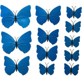house decoration 12 PCS stereo butterflies refrigerator stickers home decor removable 3D wall stickers home decor - Hespirides Gifts - 2
