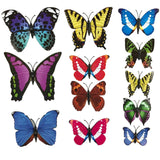 house decoration 12 PCS stereo butterflies refrigerator stickers home decor removable 3D wall stickers home decor - Hespirides Gifts - 16
