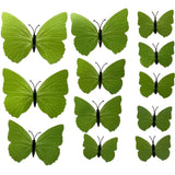 house decoration 12 PCS stereo butterflies refrigerator stickers home decor removable 3D wall stickers home decor - Hespirides Gifts - 27