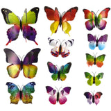 house decoration 12 PCS stereo butterflies refrigerator stickers home decor removable 3D wall stickers home decor - Hespirides Gifts - 23
