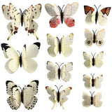 house decoration 12 PCS stereo butterflies refrigerator stickers home decor removable 3D wall stickers home decor - Hespirides Gifts - 19