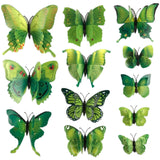 house decoration 12 PCS stereo butterflies refrigerator stickers home decor removable 3D wall stickers home decor - Hespirides Gifts - 14