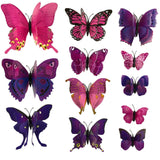 house decoration 12 PCS stereo butterflies refrigerator stickers home decor removable 3D wall stickers home decor - Hespirides Gifts - 17