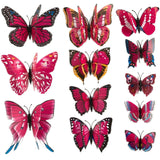 house decoration 12 PCS stereo butterflies refrigerator stickers home decor removable 3D wall stickers home decor - Hespirides Gifts - 11