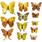 house decoration 12 PCS stereo butterflies refrigerator stickers home decor removable 3D wall stickers home decor - Hespirides Gifts - 13
