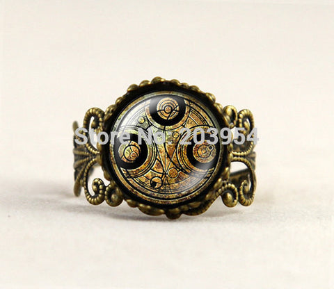 iron man ring 1pcs/lot uk drama doctor who brown line Adjustable ring brass mens womens fashion dr who steampunk new xmas gift - Hespirides Gifts