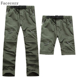 Facecozy Men Summer Removable Pants Outdoor Quick Dry Pants UV Protection Pants Breathable Fishing&Hunting Pants Male Plus Size - Hespirides Gifts - 1