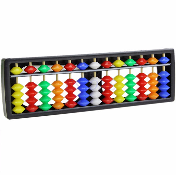 Portable Arithmetic Soroban Colorful Beads Mathematics Calculate Chinese Abacus
