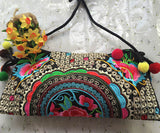 Hot sale Embroidered bags National trend handmade fabric embroidery one shoulder cross-body women messenger Clutch handbag - Hespirides Gifts - 17