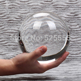 HOT Sell ASIAN QUARTZ ultra Clear 80mm crystal magic props ball with wood base - Hespirides Gifts