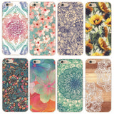 Shell For Apple iPhone 5 5S 5C 6 6S Plus 6SPlus Back Case Cover Printing Mandala Flower Datura Floral Cell Phone Cases - Hespirides Gifts - 1