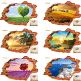 Hot style popular 3D stereo scenery stickers creative personality stickers manufacturers wholesale PVC white film wall stickers - Hespirides Gifts - 1
