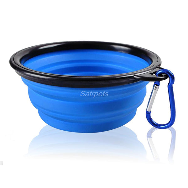 Silicone Collapsible Feeding Bowl Dog Water Dish Cat Portable Feeder Puppy Pet Travel Bowls - Hespirides Gifts - 5