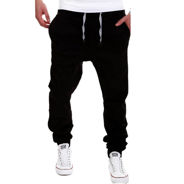 2016 New Fashion Men Cross Pants Tether Casual Loose Jogger Pants Solid Leisure Men  Sweatpants Joggers M-3XL - Hespirides Gifts - 3