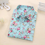Clearance! Women Blouses Turn Down Collar Floral Blouse Long Sleeve Shirt Women Camisas Femininas Women Tops And Blouses Fashion - Hespirides Gifts - 15