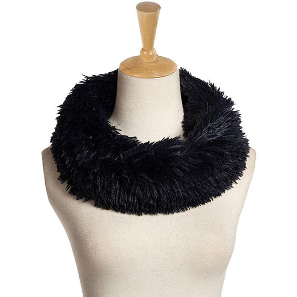 Fashion Accessories Womens SCARF RING Fur Scarf Round Collar Shawl Wrap Stole Scarf Women Winter Neckerchief - Hespirides Gifts - 4