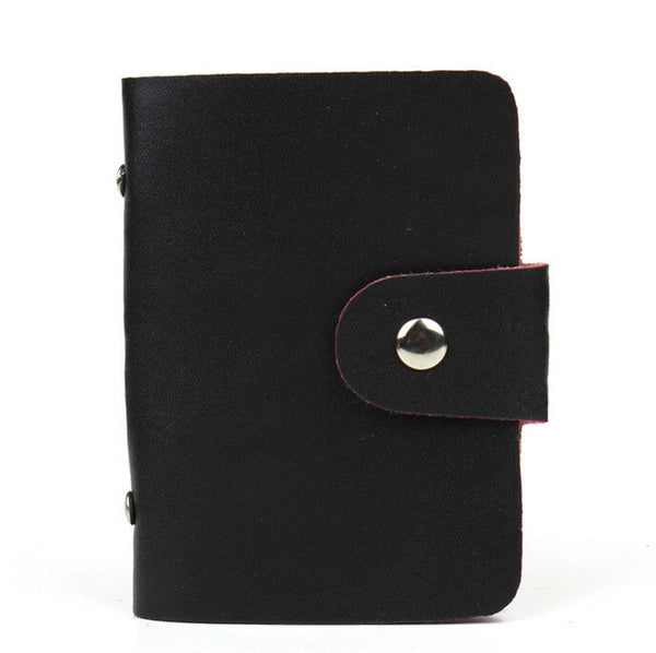 Fashion 24 Bits Useful Business Credit Card Holder PU Leather Buckle Cards Holders Organizer Manager For Women Men - Hespirides Gifts - 8