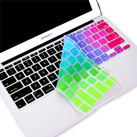 "for Apple Macbook Keyboard Cover 11""13"" 15"" 17"" Rainbow Laptop Keyboard Stickers US&EU Version Silicone Skin Protector Covers - Hespirides Gifts - 1"