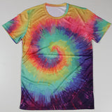 Fashion New Cheap Men Tops Tie Dye T Shirts Men Camisa Fitness Tees Bodybuilding Short Sleeve Crew Neck S-4XL - Hespirides Gifts - 3