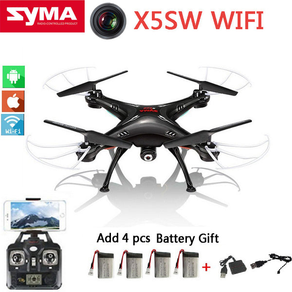 Original SYMA X5SW Fpv Quadcopter Drone With Camera HD 0.3MP RC Dron Drones 2.4G 6-Axis X5C Upgrade X5sw RC Helicopter 5 battery - Hespirides Gifts