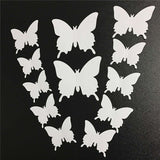 house decoration 12 PCS stereo butterflies refrigerator stickers home decor removable 3D wall stickers home decor - Hespirides Gifts - 3