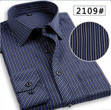 Plus size 6XL Striped Men Shirts Cheap Long Sleeve Casual Shirts, Big Size Luxury Quality China Imported Solid Color Men Clothes