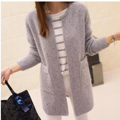 New Autumn Winter Women Casual Long Sleeve Knitted Cardigans 2017 Crochet Ladies Sweaters Fashion Tricotado Cardigan Top Quality - Hespirides Gifts - 5