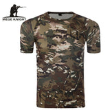 Camouflage Shirt Quick Dry Breathable Tights Army Tactical T-shirt Mens Compression T Shirt Fitness Summer Bodybulding