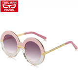 TRIUMPH VISION Oversized Round Female Sunglasses Women Brand Eyewear UV400 Gradient Summer Sun Glasses 2016 Women Fashion Shades