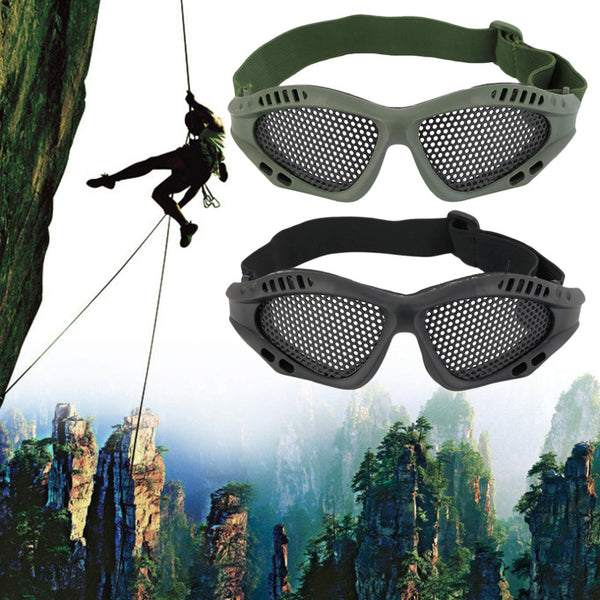 Durable Outdoor Eye Protective Safety Tactical Metal Mesh Glasses Goggle - Hespirides Gifts