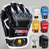 ZOOBOO Brand MMA Boxing Gloves Top Quality PU Leather MMA Half Fighting Boxing Gloves Competition Training Gloves - Hespirides Gifts - 1