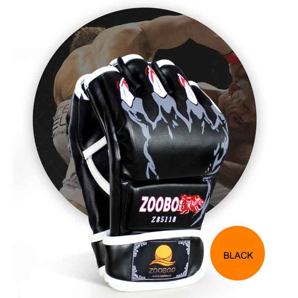 ZOOBOO Brand MMA Boxing Gloves Top Quality PU Leather MMA Half Fighting Boxing Gloves Competition Training Gloves - Hespirides Gifts - 7