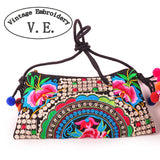 National Embroidered Bags Embroidery Unique Shoulder Messenger Bag Vintage Hmong Ethnic Thai Indian Boho Clutch Handbag 25 style