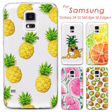 Phone Case Cover For Samsung Galaxy S4 S5 S6 S6Edge S6Edge+ Ultra Soft TPU Transparent Fruit Pineapple Lemon Watermelon Cover - Hespirides Gifts - 1