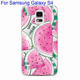 Phone Case Cover For Samsung Galaxy S4 S5 S6 S6Edge S6Edge+ Ultra Soft TPU Transparent Fruit Pineapple Lemon Watermelon Cover - Hespirides Gifts - 19