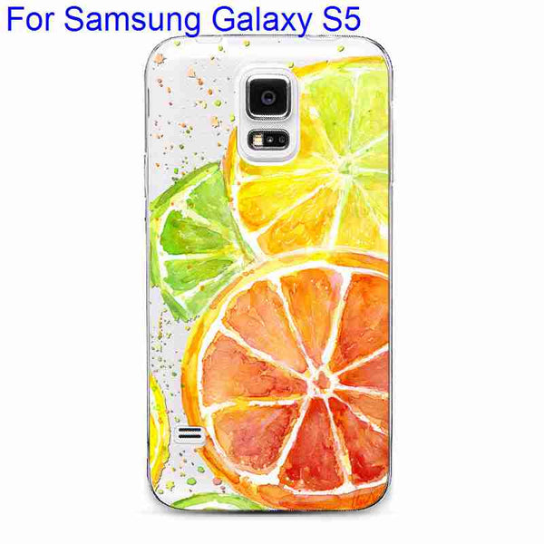 Phone Case Cover For Samsung Galaxy S4 S5 S6 S6Edge S6Edge+ Ultra Soft TPU Transparent Fruit Pineapple Lemon Watermelon Cover - Hespirides Gifts - 17