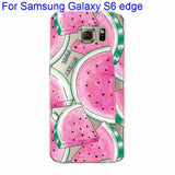 Phone Case Cover For Samsung Galaxy S4 S5 S6 S6Edge S6Edge+ Ultra Soft TPU Transparent Fruit Pineapple Lemon Watermelon Cover - Hespirides Gifts - 20