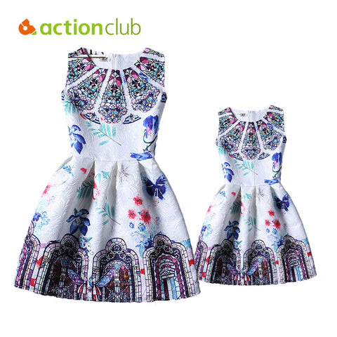 New Family Matching Clothing Dresses For Girls And Mother Family Matching Mother Daughter Clothes European Girl Dress KD457 - Hespirides Gifts - 1