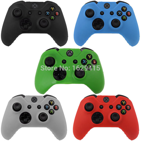 IVY QUEEN 1 PCS Soft Silicone Rubber Protective Skin Case Cover For Microsoft Xbox one 1 Controller Black Green Blue Red Clear - Hespirides Gifts