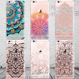 Colorful Floral Paisley Flower Mandala Henna Clear Case For iphone 6 6s 6plus Silicone Soft Cover - Hespirides Gifts - 1