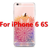 Colorful Floral Paisley Flower Mandala Henna Clear Case For iphone 6 6s 6plus Silicone Soft Cover - Hespirides Gifts - 9