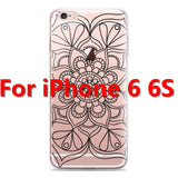 Colorful Floral Paisley Flower Mandala Henna Clear Case For iphone 6 6s 6plus Silicone Soft Cover - Hespirides Gifts - 13