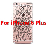 Colorful Floral Paisley Flower Mandala Henna Clear Case For iphone 6 6s 6plus Silicone Soft Cover - Hespirides Gifts - 6