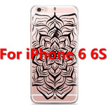 Colorful Floral Paisley Flower Mandala Henna Clear Case For iphone 6 6s 6plus Silicone Soft Cover - Hespirides Gifts - 12