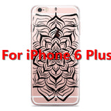 Colorful Floral Paisley Flower Mandala Henna Clear Case For iphone 6 6s 6plus Silicone Soft Cover - Hespirides Gifts - 8