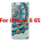 Colorful Floral Paisley Flower Mandala Henna Clear Case For iphone 6 6s 6plus Silicone Soft Cover - Hespirides Gifts - 11
