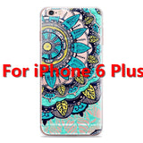 Colorful Floral Paisley Flower Mandala Henna Clear Case For iphone 6 6s 6plus Silicone Soft Cover - Hespirides Gifts - 10