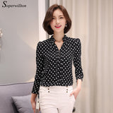 Soperwillton New 2017 Tribal Print Women Blouses Chiffon Large Size Shirts Blusa Women's Clothing blouse shirt Vintage Tops D573