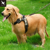 TAILUP Easy Walk Dog Harness K9 Available 4Colors Leopard Nylon Reflective Pet Dog Harness Large Dog Collar Vest