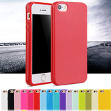 For iphone SE Fashion Candy Colors Jelly Soft TPU Silicone Shock proof Case for Apple iphone 5 5S 5G Cell Phone Protective Cover - Hespirides Gifts - 1
